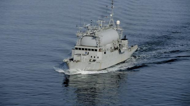 Nauta odpowiedzialna będzie za całość prac przy budowie, zwodowaniu oraz wstępnych próbach morskich platformy szwedzkiego okrętu. Na zdjęciu HMS Orion, obecny okręt SIGINT Szwedzkiej MW.