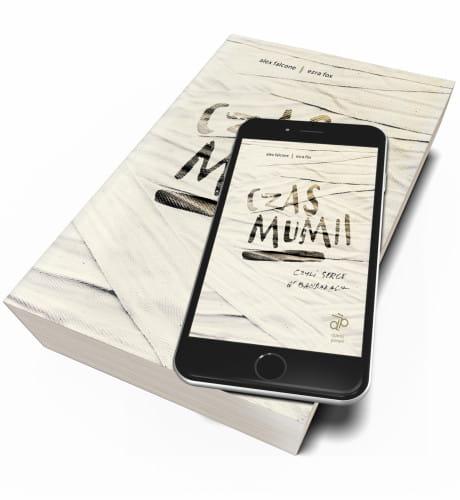 """Okładka książki """"Czas mumii"""" wydawnictwo Dziwny Pomysł."""