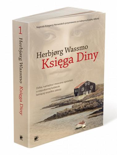 """Okładka książki """"Księga Diny"""" wydawnictwo Smak Słowa."""