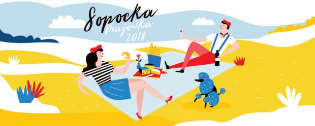 Plakat zapowiadający Sopocką Majówkę 2018.
