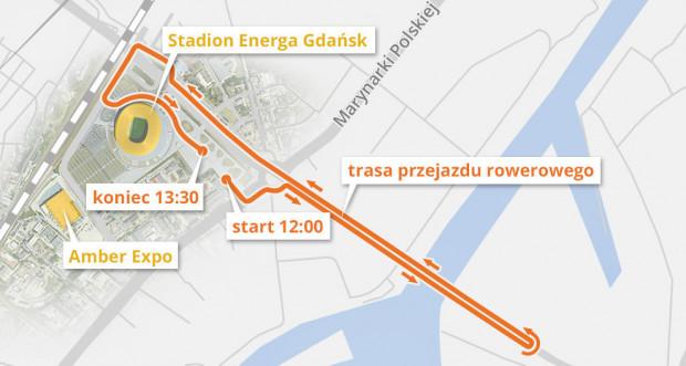 Trasa wyznaczona przez organizatorów mierzyła około 4,5 km. Tunel był zamknięty dla ruchu samochodowego przez niemal dwie godziny.