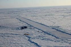 Barneo Ice Camp - baza lodowa na Oceanie Arktycznym, która była areną North Pole Marathon
