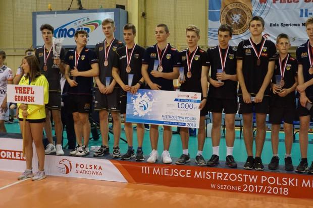 Młodzicy Trefla Gdańsk z brązowymi medalami mistrzostw Polski.
