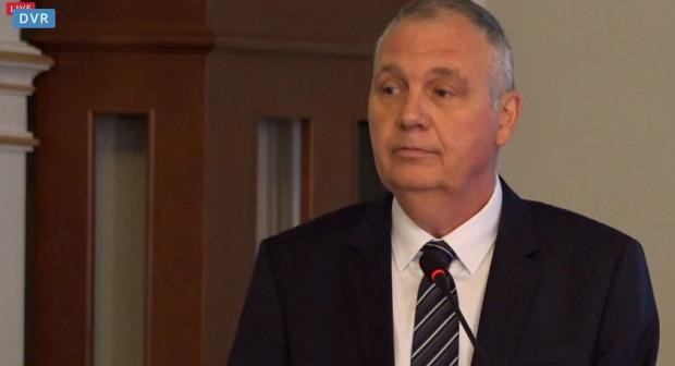 Guy Fournier - prezes SNG na sesji Rady Miasta