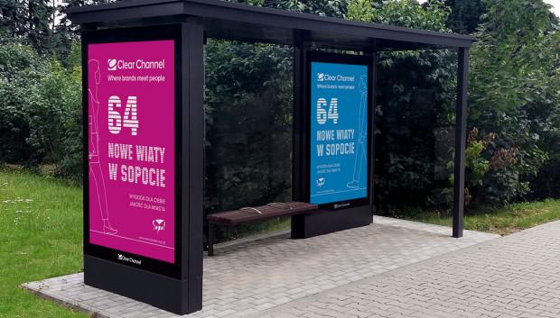 Preferowaną przez Sopot formą reklamy są nośniki w wiatach przystankowych oraz słupy ogłoszeniowe.