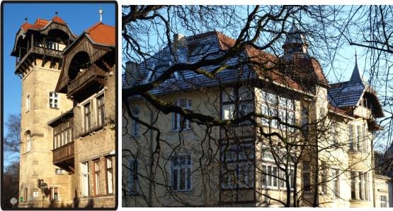 Dom z wieżą przy ul. Goyki i pierwsze rezydencje przy ul. Obrońców Westerplatte.
