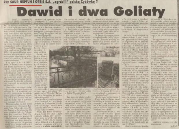 Historia gruntu pod SNG opisana w Dzienniku Bałtyckim.