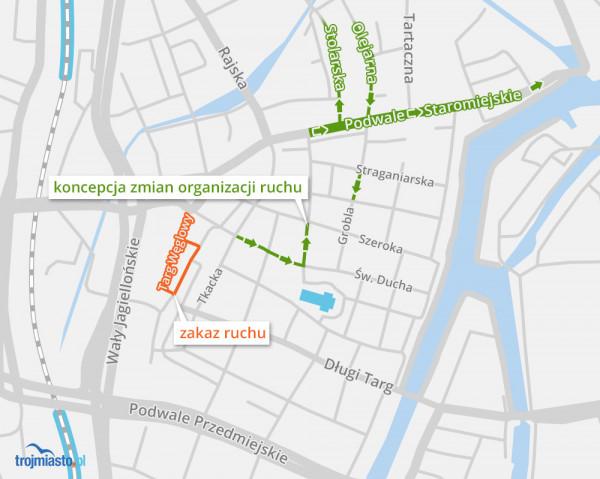 Nowa organizacja ruchu w Śródmieściu zacznie obowiązywać od piątku 15 czerwca.