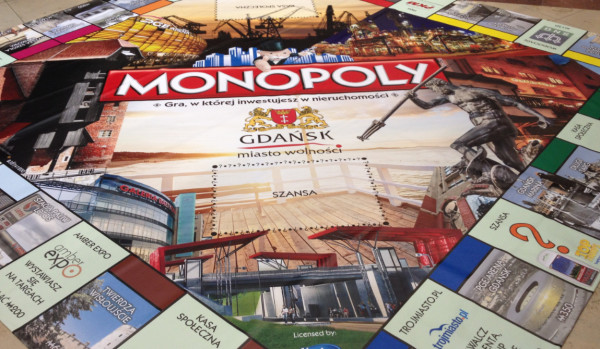 Pierwsze wydanie Monopoly Gdańsk. W drugiej edycji plansza do gry zmieni się.