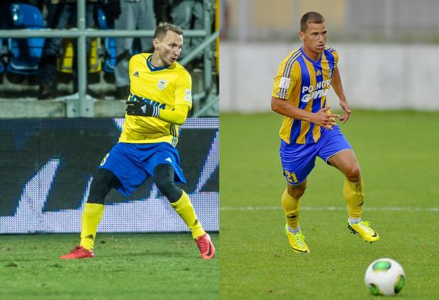 Robert Sulewski (z prawej) jest wychowankiem Arki Gdynia, który wraca do niej po 3 latach. Przygoda Krzysztofa Janusa z żółto-niebieskimi skończyła się na 4 meczach.