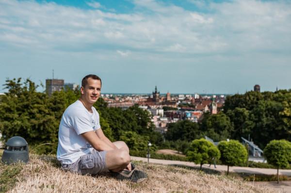 Paweł Cholewiński, student inżynierii biomedycznej Politechniki Gdańskiej, miłośnik jazdy na rowerze i nowych technologii.