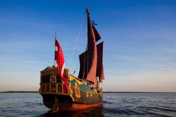 Jeden z ulubionych żaglowców pojawiających się na Baltic Sail - pływająca pod banderą łotewską Libava.