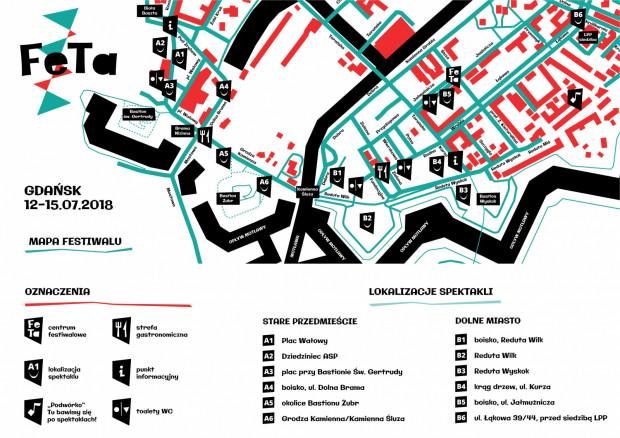 Mapa tegorocznego Festiwalu FETA.