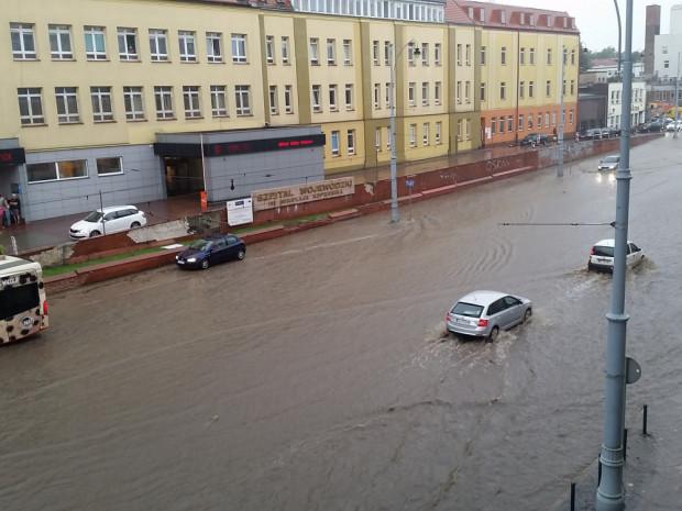 Zalana ul. Nowe Ogrody