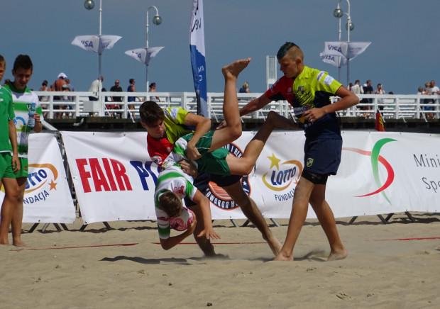 Na sopockiej plaży grano fair-play, co nie oznaczało braku sportowej walki.