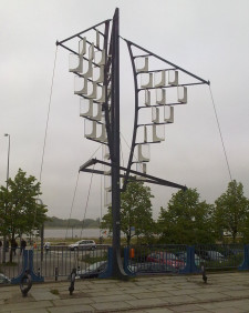 Ten pomysł na artystyczny wiatrak zrealizowano w Niemczech.