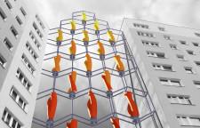 Maja Ratyńska z gdańskiego ASP kilka lat temu wymyśliła wiatrak między blokami. Czy jej koncepcja doczeka się realizacji w Niemczech lub Szwecji?