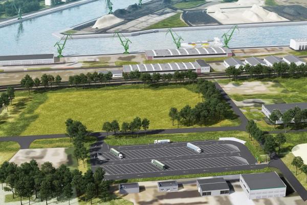 Do końca roku ma być gotowy parking dla ciężarówek przy Śnieżnej i Handlowej, co ma zapobiec długim kolejkom ciężarówek do portu.