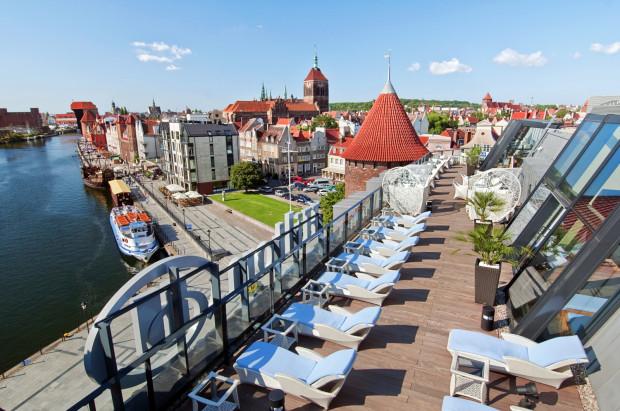 Urban Spa w hotelu Hilton znajduje się na piątym piętrze budynku, z którego roztacza się widok na Motławę.