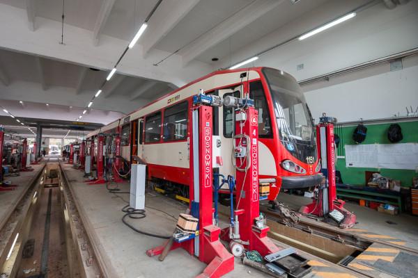 Przebudowa tramwajów odbywa się na terenie zajezdni Wrzeszcz.