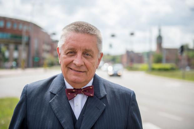 Prof. Andrzej Ceynowa z SLD, będzie startował z 5 okręgu na Zaspie.