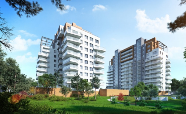 Jeden z budynków Atal Baltica Towers jest przeznaczony tylko na mieszkania na wynajem.
