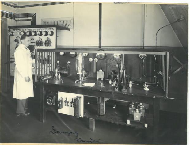Aparatura nadawcza gdańskiej rozgłośni, 1926 r.