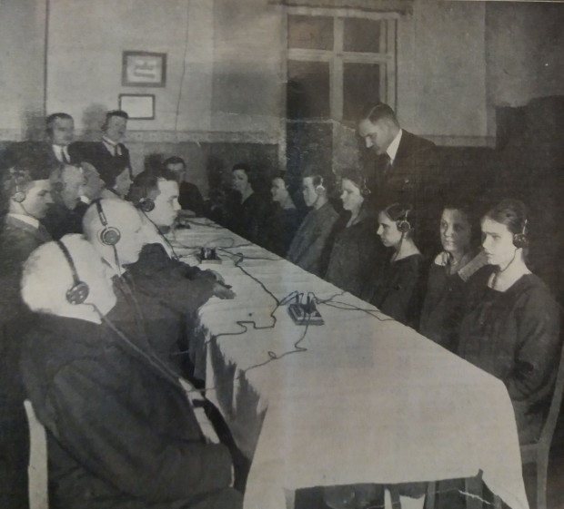 Radio wykorzystywano także w edukacji osób niewidomych, 1927 r.