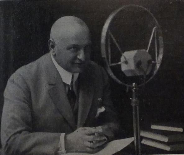 Otto Normann, pierwszy i długoletni (do 1934 r.) dyrektor artystyczny gdańskiej rozgłośni, 1928 r.