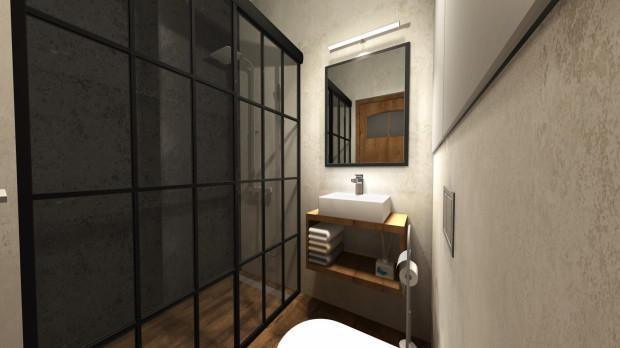 Industrialne kabiny świetnie sprawdzą się w mieszkaniach i domach, które nawiązują do tej stylistyki.