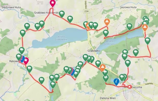 Przejrzyj przebieg naszej trasy / ściągnij ślad GPS