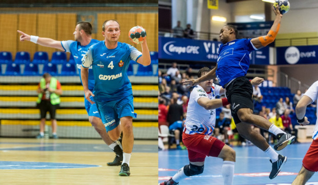 Paweł Ćwikliński z Arki (z lewej) i Ramon Oliveira z Wybrzeża (z prawej) zapewniają, że w sobotę zarówno w Gdyni jak i w Gdańsku kibiców czekają ciekawe mecze.