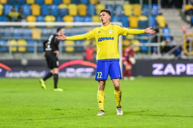 Maciej Jankowski dał prowadzenie Arce Gdynia w meczu z Legią w Warszawie.