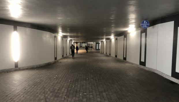 Otwarty tunel przy Forum Gdańsk.