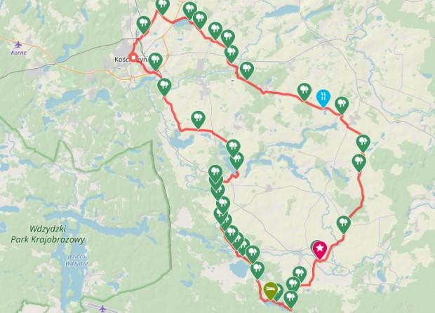 Trasa naszej wycieczki rowerowej / kliknij i zobacz szczegóły