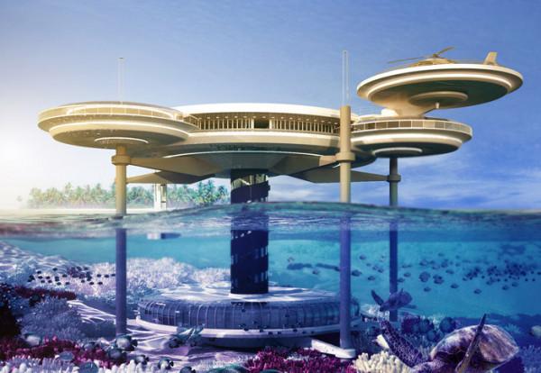 Podwodny hotel u wybrzeży Gdyni.