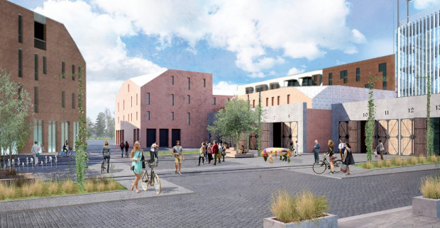 Dolne Miasto. Budynek starej zajezdni tramwajowej zostanie wyremontowany i rozbudowany. Plac przed nim ma pełnić rolę jednej z ważniejszych przestrzeni wspólnych w dzielnicy.