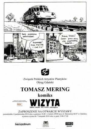 """Wystawa komiksu Tomasza Meringa """"Wizyta"""" w Galerii ZPAP."""