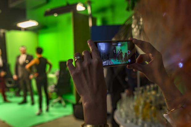 Goście mieli okazję wcielić się w rolę aktora i zobaczyć, jak wygląda realizacja zdjęć.
