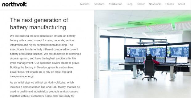 Same ogniwa bateryjne będą wytwarzane w szwedzkim Skelleftea,  gdzie firma Northvolt w 2020 roku uruchomi nowy zakład.