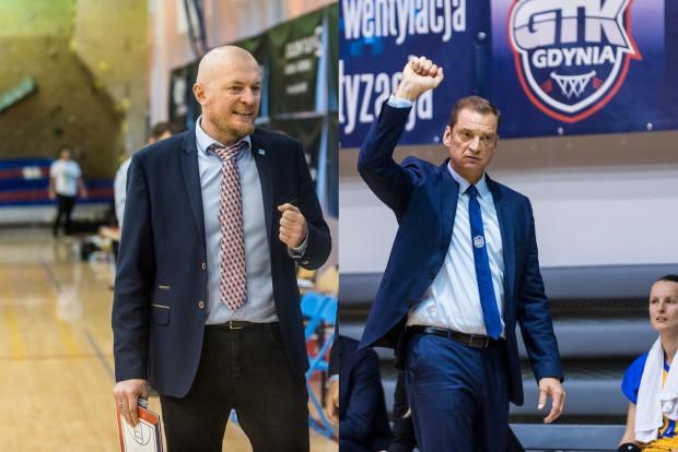 Rafał Knap (z lewej) jeszcze nie wygrał z Politechniką w EBLK. Natomiast Arka Gundarsa Vetry (z prawej) jeszcze nie przegrała w tym sezonie.