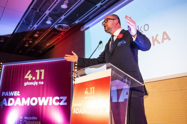 Paweł Adamowicz podczas sobotniej konwencji wyborczej.