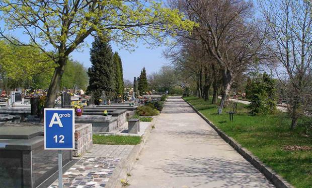 Cmentarz przy ul. Spokojnej.