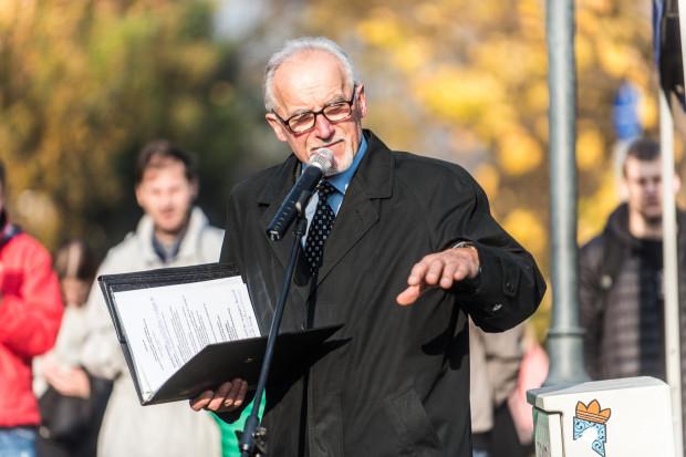 Henryk Wiszniowski 8.11.2018 Uroczystość odsłonięcia tablicy poświęconej Witoldowi Kukowskiemu