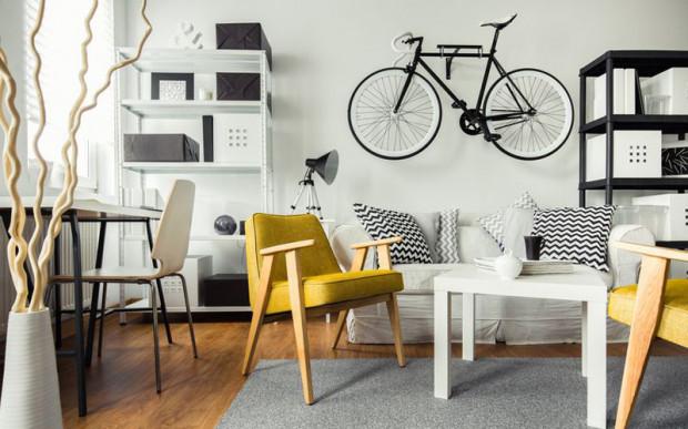 Miejsce do przechowywania roweru powinno być suche i ciepłe. Takie jest np. mieszkanie.