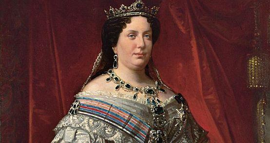 Jednym z obrazów, które można oglądać w ramach wystawy, jest portret królowej Izabeli II, namalowany przez Federico de Madrazo y Kuntz.