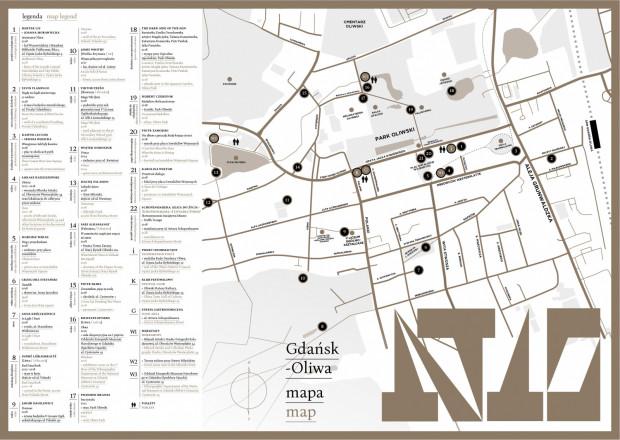 Prace można odwiedzić samodzielnie, posiłkując się przygotowaną przez organizatorów mapką (do odebrania m.in. w siedzibie IKM czy Rady Dzielnicy Oliwa).
