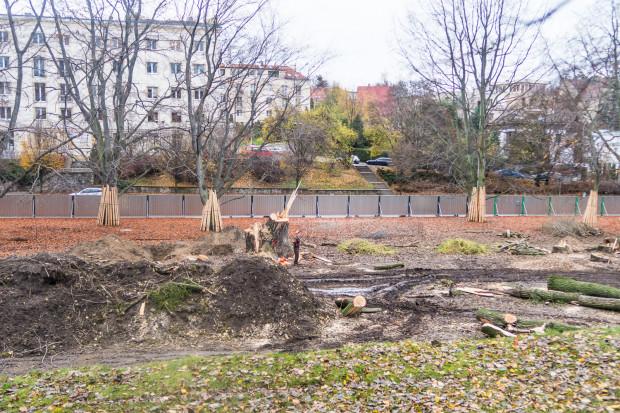 Teren budowy Parku Centralnego