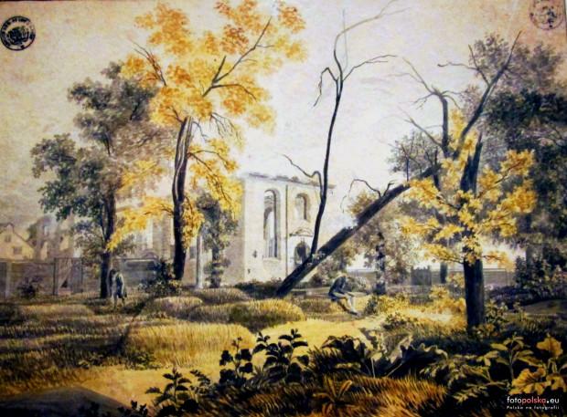 Ruiny kościoła Wszystkich Bożych Aniołów. 1809 rok.