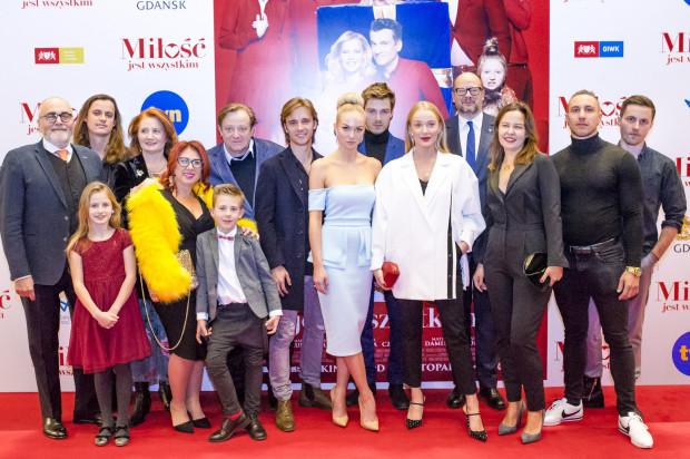 Ekipa filmu podczas gdańskiej premiery w ECS.